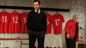 Daniel Mays as Kidd and Peter Wight as Yates in Patrick Marber's The Red Lion. National Theatre through 30 September. ©Catherine Ashmore
