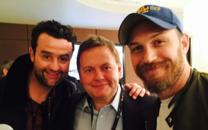 Daniel Mays with @ColebrookRoyals & Tom Hardy during #BGCCharityDay 11 Sept 2015 (courtesy of @COLEBROOKROYALS twitter)