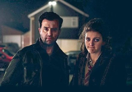 Bill (Daniel Mays) and Chrissy (Lara Peake)