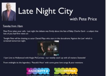 Pete Price Radio City 25 July