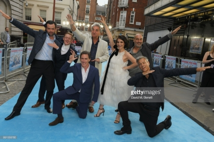 """attends the UK Premiere of """"Swimming With Men' at The Curzon Mayfair on July 4, 2018 in London, England."""