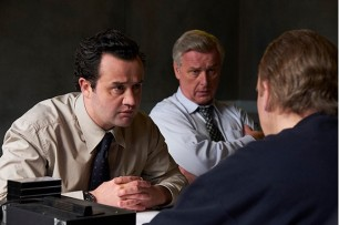 DC Peters (Danny Mays), DS Newton (Stuart Graham) and Tony Martin (Steve Pemberton)